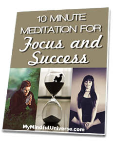 Get your free 10 Minute Meditation For Focus And Success Workbook!